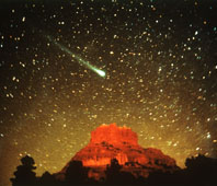 A comet - picture courtesy of NASA