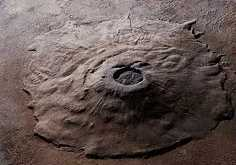 Olympus Mons - the largest volcano in the solar system